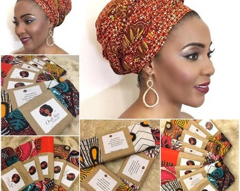Crown of glory collection  ( 100% Ankara head wrap)