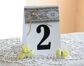 Burlap Wedding table numbers, Rustic Table Numbers, Wedding Table Numbers, Wedding Table Number Cards, Wedding Table Decor