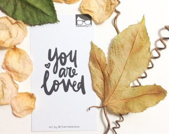 You Are Loved Encouraging Mini Bookmark (Pack of 10)