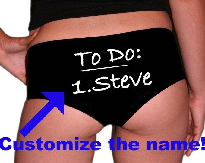 CUSTOM Bride Panties. Bride Gift. Bachelorette Gift. Bachelorette Party. Custom Panties.