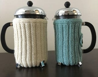 Striped French Press Cozy (Worsted)