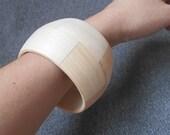 50 mm Wooden bracelet unfinished round - natural eco friendly