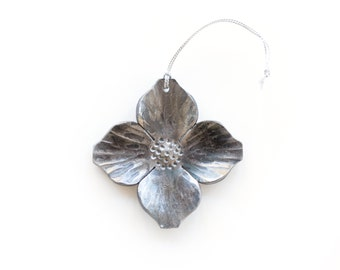 Ornament: Hand-forged Dogwood Blossom