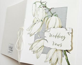 Wedding Vows Journal, Vintage Wedding Journal, Wedding Journal