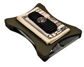 Black on Olive-Drab, Military Wallet, Credit Card Wallet, Men and Women Wallet, Slim Minimalist, Modern Design wallet by Bench Built