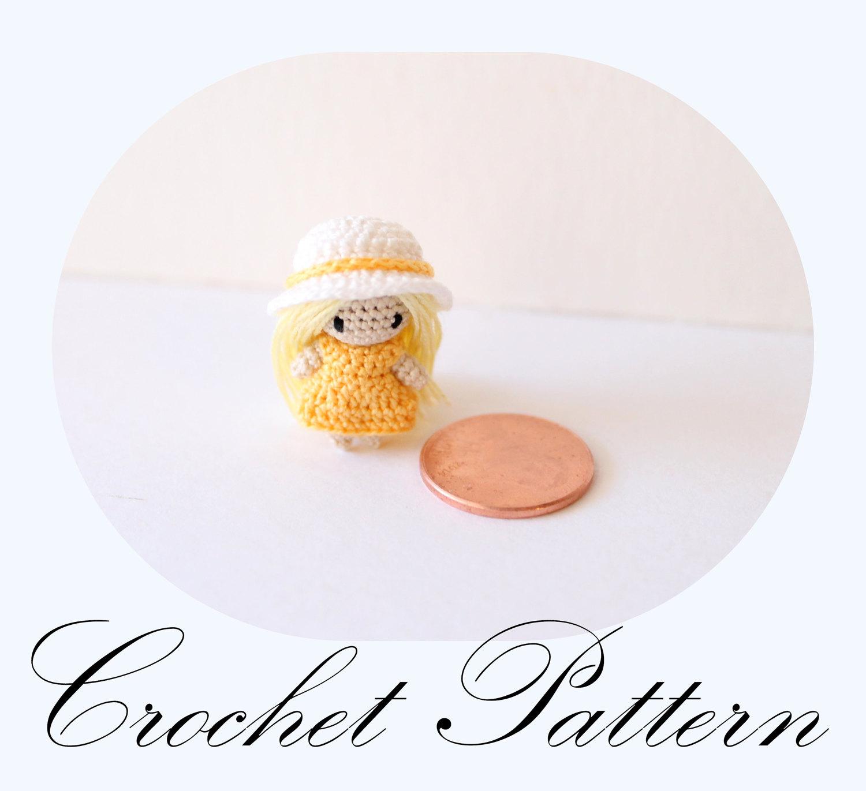 Amigurumi Mini Doll Pattern : PATTERN: Micro Mini Doll Amigurumi Pattern Miniature Doll