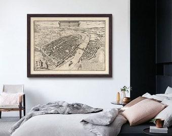 Frankfurt Antique Map 1575, Frankfurt Map, Old Map of Frankfurt, Frankfurt Germany- CP124