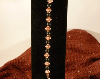 Copper and Black Glass Bracelet for Bellabeat Leaf or Leaf Urban