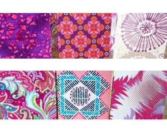 Fabric notebooks in pocket-size