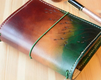 All Sizes Seagrass Ombre Brown Green Fauxdori Midori Travelers Notebook Planner A4 A5 A6 Cahier Pocket Regular Standard Personal Passport A7