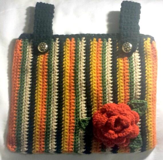 Crochet Patterns For Walker Bags : Walker Tote bag crocheted