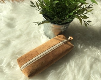 Pencil Cork case Vegan and eco friendly for school/travelling/work