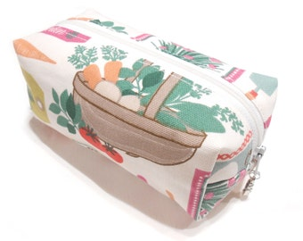 Gardening Cosmetic Bag, Gardening Pencil Case, Gardeing Makeup bag, Gardening Make-Up Bag, Coin Purse, Pouch