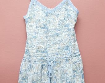 Sienna Dress- Blue paisley boho dress