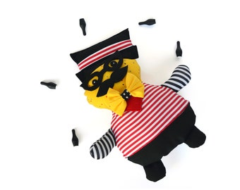 The Masters of ceremonies, Fabric toys, Circus, Room Decor, Soft Toy, Muñeco hecho,Rag doll, ready to ship, In stock
