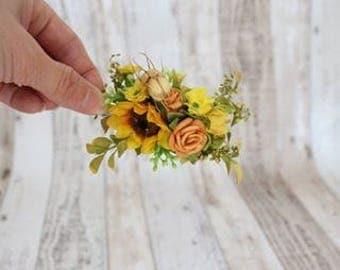 Hair Clip - Sunflower