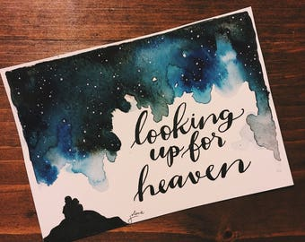 "Looking Up For Heaven: Glory-Inspired 5x7"" Painting"