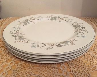 Johnson bros dinner plates Snowhite 4