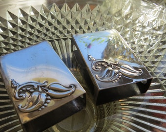 Sterling Silver Vintage Matchbox Covers 2 Qty