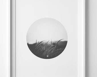 Landscape art, photography print, bedroom decor, nature art, abstract landscape print, black and white art, nature print, modern home decor