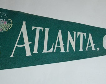 Genuine Vintage  1940s-'50s Felt Pennant Atlanta Georgia -- Free Shipping!
