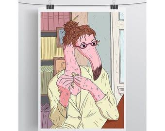 5x7 Print - Royal Tenenbaums - Etheline Tenenbaum - Wes Anderson Movie Print - Movie Art Print -