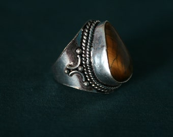 Niam, ring with Tiger eye ᴓ 2 cm, size 63