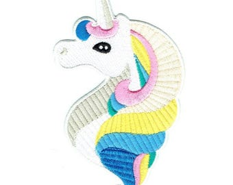 Unicorn Iron On Patch Embroidered Applique