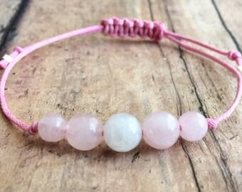 Fertility Infertility Bracelet Moonstone Rose Quartz Bracelet Hemp Bracelet Infertility Bracelet Fertility Wish Bracelet Fertility Crystals