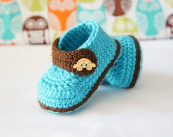 Crochet baby shoes - Baby booties - Baby boy shoes -Newborn