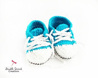 Baby Crochet Sneakers - Baby Sneakers / Crochet Booties / Baby Style / Babyshower Gift / Baby Fashion / Baby Accessories