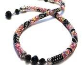 50 OFF Tuxedo Medley Bead Crochet Necklace kit by Ann Benson
