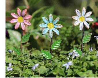 Fairy Garden  - Daisy Picks - Set of 3 - Miniature