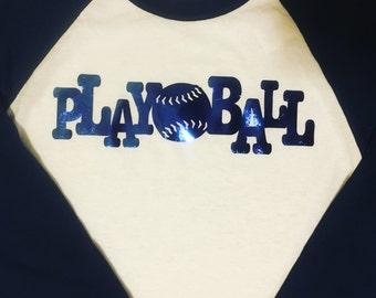 Play ball badeball t-shirt