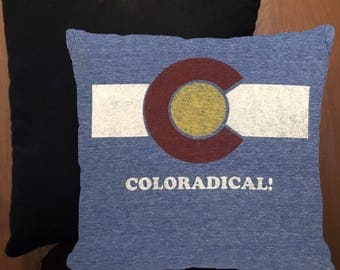 Coloradical mini throw pillow