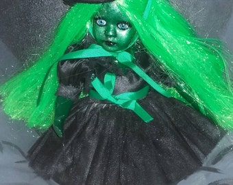 ooak witch repainted doll