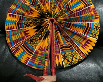 Image result for Kente folding fan