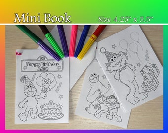 Mini coloring book | Etsy