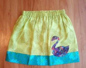 Swan Song handmade One-of-a-kind Girl's skirt 5 - 8 years