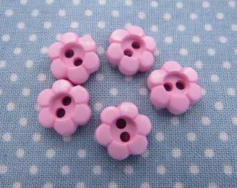 11mm Pink Daisy Flower Buttons