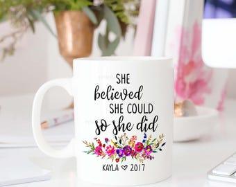 Class of 2017 Mug, Graduation Gift, Gifts for Grads, Graduation Gift for Her, Personalized Graduation Gift, Mug with Name, Custom Gift