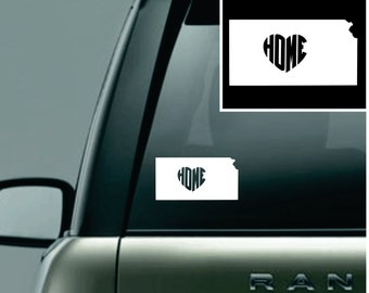 Kansas Love Your State Car Decal