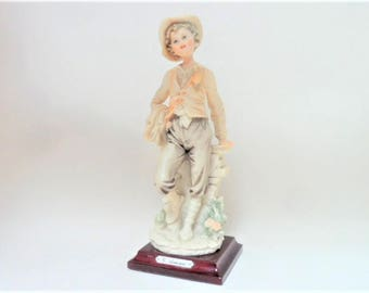 Capodimonte Style Male Figurine Giuseppe Armani Handsome Statuette Italian Collectable Home Decor