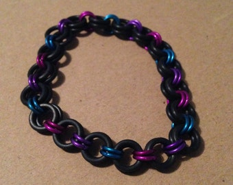 2 in 1 chainmaille stretchy bracelet