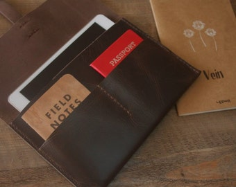Kindle Paperwhite  4 Sleeve, Kobo Covers, Nook Case, Hand Stitched Leather E-Reader Portfolio, Kobo Glo Covers Case