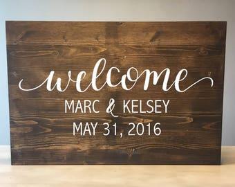 Wedding welcome sign, Wood Wedding Welcome Sign, Rustic Wood Wedding Sign, Rustic Wedding Sign, Wood welcome sign, Wooden Welcome sign