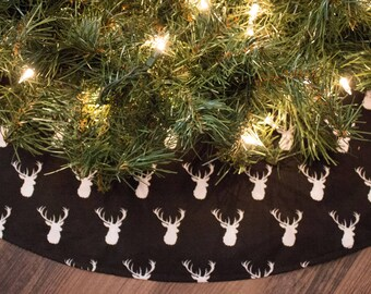 Christmas Tree Skirt-Buck-Deer-Hunting-Woods-Holiday Decor-Christmas Decoration-Christmas Tree-Cabin Decor-Man cave Christmas-36""