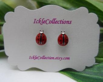 Ladybug magnetic Earrings, girls Earrings, ladybug studs , girls birthday gift, magnetic earrings, stud earrings
