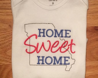 Home Sweet Home State Onesie