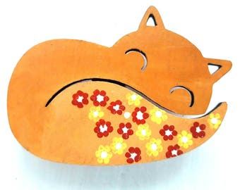 Fox Brooch, Fox Jewelry, Fox Gift, Animal Brooch, Animal Jewelry, Woodland Jewelry, Fox Lover Gift, Fox Badge, Wooden Pin, Fox Pin